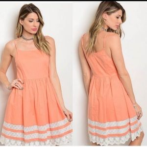 🌺New Esley Lacey Peach Sundress